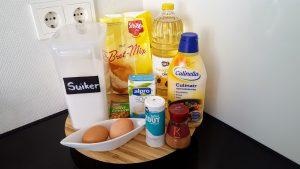 ingredienten voor glutenvrije en melkvrije donuts