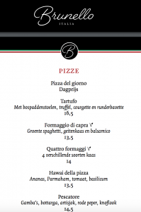 Brunello pizza