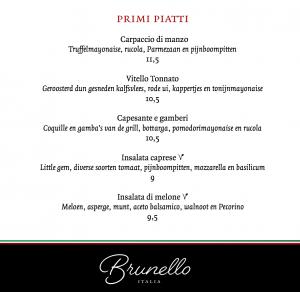 Brunello voorgerechten