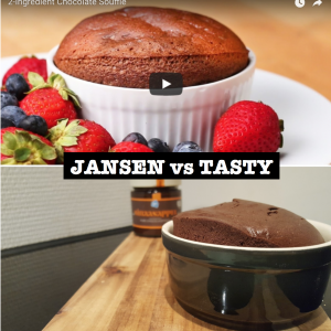 Jansen vs Tasty header met tekst