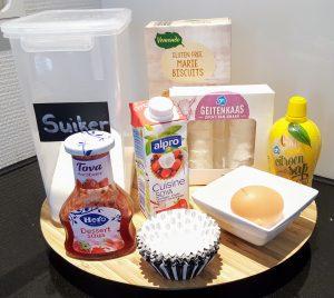 Ingredienten koemelkvrije cheesecake